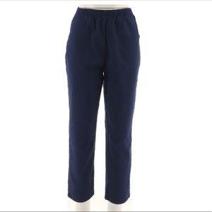 Denim & Co Navy Original Waist Stretch Pants XLP